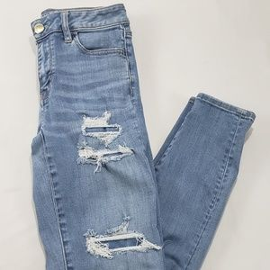 American Eagle Outfitters Pants - American Eagle Light Wash Destressed Jean Pants